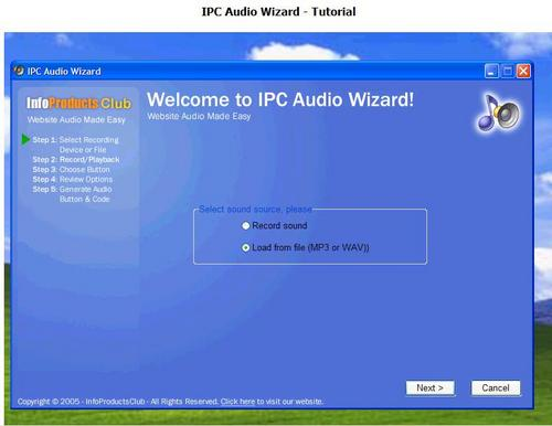 Product picture New IPC Audio Wizard ---Add Audio To Your Website In 5 Minutues